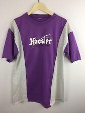 Vtg Hoosier Racing Tires Tshirt Sz L/XL Single Stitch Purple Gray Short Sleeve