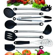 Ecostella Silicone Cooking Utensils Set 8 Piece - Stainless Steel