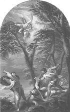 CHRISTIAN ST SAINT PETER SIMON APOSTLE of JESUS ~ 1870 BIBLE Art Print Engraving