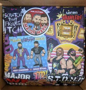 Pro Wrestling Crate Box Referee Micro Brawler XL T Shirt Pin Keychain Socks Set