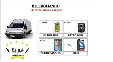 KIT TAGLIANDO FIAT IVECO DAILY DAL 1989 3 FILTRI + 7L OLIO TOTAL QUARTZ 10W40