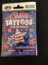Celebrate America 50 TATTOOS SAVVI PARTY FAVOR BODY ART - 4th Of July Fireworks