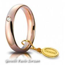 Fede  UNOAERRE Comoda  4 mm Oro rosa con diamante  40 AFC 1/0015 col.18