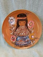 """Collector Plate.  De Grazia's """"Little Cocopah Indian Girl"""". Limited Edition. 10"""""""