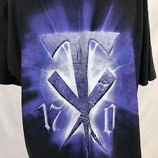 WWE Authentic Undertaker 17-0 Wrestlemania 25 T-Shirt XL Shawn Michaels 2008
