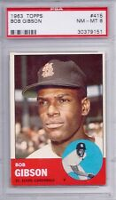 1963 Topps # 415 Bob Gibson HOF Cardinals NM MT PSA 8