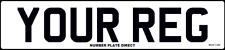 FRONT Standard Number Plate Car, Van MOT Compliant & UK Road Legal Registration