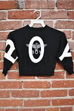 00173 BOY LONDON KIDS PRINTED SWEATSHIRT SIZE 10 BLACK