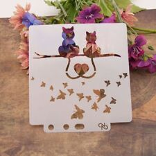 Love Cat Stencils Template Painting Scrapbooking Embossing Stamping Album Crafts