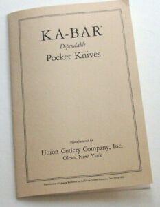 KA-BAR RERPRO OF FACTORY POCKET KNIFE CATALOG
