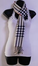 Womens PLAID/CHECK print Pashmina Scarf Wrap Shawl Tan color