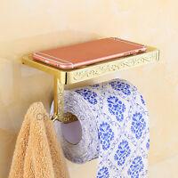 Wall Mounted Bathroom Tissue Roll Holder Lavatory Toilet Paper Storage Shelf NEW