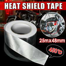 25m Aluminum Reinforced Heat Shield Tape Reflective Self Adhesive 450℃ Silver