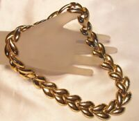 VINTAGE HIGH END CHUNKY LARGE HEAVY GOLD TONE LINK NECKLACE H323