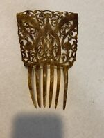 Beautiful Antique Victorian Edwardian Carved Celluloid Fan Hair Comb Mantilla