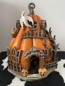 TK Maxx Halloween Stunning Detail Light Up Haunted Pumpkin Ghost House RARE!