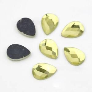 10~25mm Flatback Teardrop Crystal Glass Faceted Cabochons Rhinestones Craft Lot