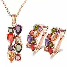 EG_ Women Necklace Earrings Jewelry Sets Charm for Wedding Party Hot Gift _GG