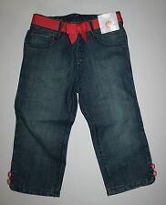 New Gymboree Buttons & Bows Denim Blue Jeans Cropped 5T NWT Chevrons & Dots