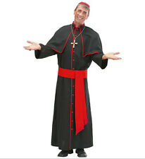 COSTUME DA CARDINALE Tg.M NERO E ROSSO Papa Chiesa Widmann Carnevale 110 73642