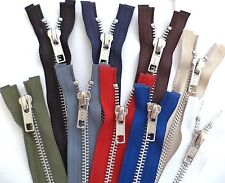 YKK Metal Open End Zip Fastener No 5 Weight - Choice of colours and sizes