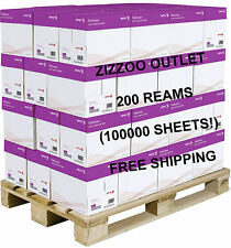 A4 XEROX ECOPRINT 75GSM PAPER – 200 REAMS - 100000 SHEETS (40 BOXES) + FREE P&P