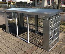 Mülltonnenbox Müllbox Mülltonnengabione 3x240-l-P-Gabio
