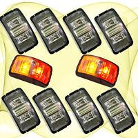 10X 12V DC RED / AMBER Side Light LED Marker Trailer Truck Turn Clearance Lamp