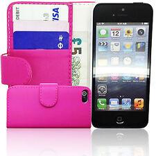 Libro de piel rosa Billetera Abatible Petaca Estuche Cubierta APPLE iPHONE SE 5 5S