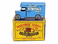 Matchbox Lesney No.17a Bedford O Type Removals Van In Type B2 MOKO Box (BLUE !!)