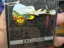 NEW Hard Rock Cafe HRC Exclusive Guitar Air Plane Pin / Caribbean St. Maarten
