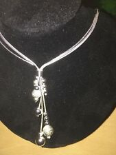 "17"" 925 Silver Necklace with Pendant"
