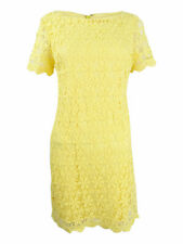 Jessica Howard Women's Floral Lace Sheath Dress 14, Yellow