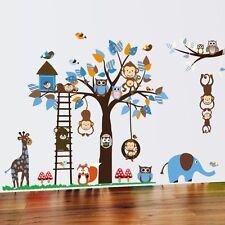 Wandtattoo Wandsticker Aufkleber Tiere Wald Sticker Affe Baby Baum Kinder XXL
