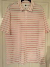 NWOT Nike Golf Dri-Fit Men's Polo Shirt Orange/White Stripe - Large