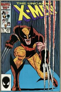 Uncanny X-Men #207-1986 vf 8.0 John Romta Jr Dan Green Classic Wolverine cover
