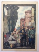 "Vintage Russian postcard 1957 Soviet propaganda ""Morning after the assault.1917"""
