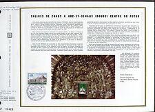 DOCUMENT CEF PREMIER JOUR  1970  TIMBRE N° 1651 SALINES DE CHAUX