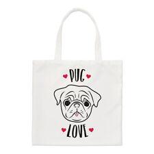 Pug Love Small Tote Bag-CANI DOG PUPPY FUNNY shopper spalla