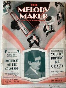 MELODY MAKER MAGAZINE, FEBRUARY 1931, SPIKE HUGHES ETC!