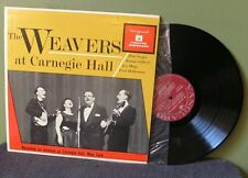 "The Weavers ""at Carnegie Hall"" LP VRS 9010 Pete Seeger Bob Dylan Woody Guthrie"