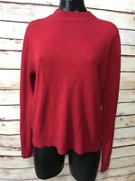 Sag Harbor Size M Red Crew Neck Long Sleeve Sweater Womens Casual Comfort