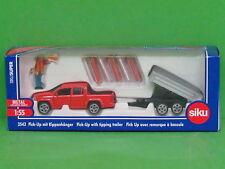 1:55 Siku Super 3543 VW Amarok Pick Up mit Kippanhänger Blitzversand DHL-Paket