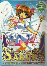 DVD Cardcaptor Sakura Chapter 1 - 70 End + 2 Movies