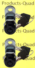 2 Keyed Alike Black Tubular Cam Lock 58 180 Rv Camper Toolbox Removable Key