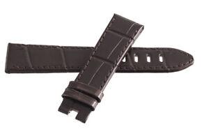 Montblanc Men's 20mm x 17mm Brown Alligator Leather Watch Band FYH