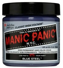 Manic Panic Hair Dye, Blue Steel 4 oz - Brand New, Original
