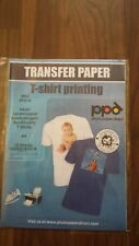 10 SHEETS OF A4 T SHIRT PRINTING IRON ON TRANSFER PAPER PHOTO INKJET PRINTERS