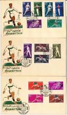 65618 - SPAIN - 3 FDC COVERS 1960: FOOTBALL  hockey PELOTA VASCA cycling