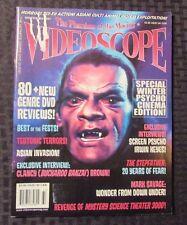 2007 VIDEOSCOPE Horror Magazine #61 VG- & 62 GD Bandh Darwaza Cover LOT of 2